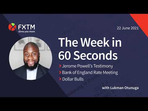 Jerome Powell testimony, BoE meeting & Dollar in focus - The week in 60 seconds | FXTM | 22/06/2021