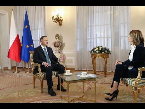 """Wywiad Prezydenta RP w programie """"Prezydenci i Premierzy"""" w Polsat News"""