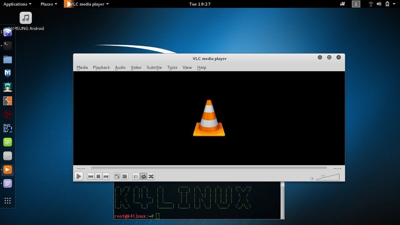 Kali linux tutorials how to install vlc player youtube for Linux watch