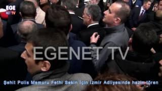 Şehit Polis Memuru Fethi Sekin İçin İzmir Adliyesinde hazin tören