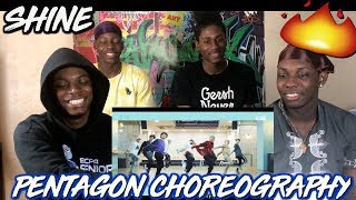 Pentagon 39 Shine 39 Choreography Practice Video Reaction