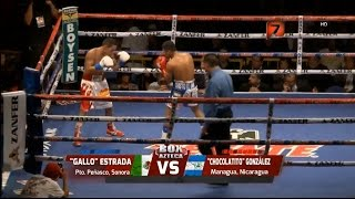 "Juan Francisco ""Gallo"" Estrada vs Roman ""Chocolatito"" Gonzalez Completa HD Tv Azteca"