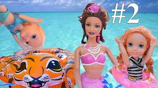 Anna and Elsa Toddlers take Swimming Lessons Turtle Pool Mermaids Ariel # 2  TV Toys In Action