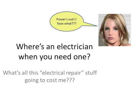 Contact Electricians near Columbus... see this & choose carefully when darkness falls!