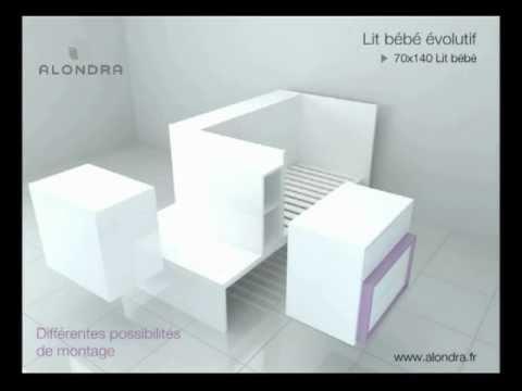 lit b b volutif alondra refs k401 k405 k406 k414 youtube. Black Bedroom Furniture Sets. Home Design Ideas