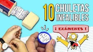 10 TRUCOS INCREIBLES para COPIAR en un EXAMEN sin que te pillen ✏️ ¡¡10 Chuletas INFALIBLES!!