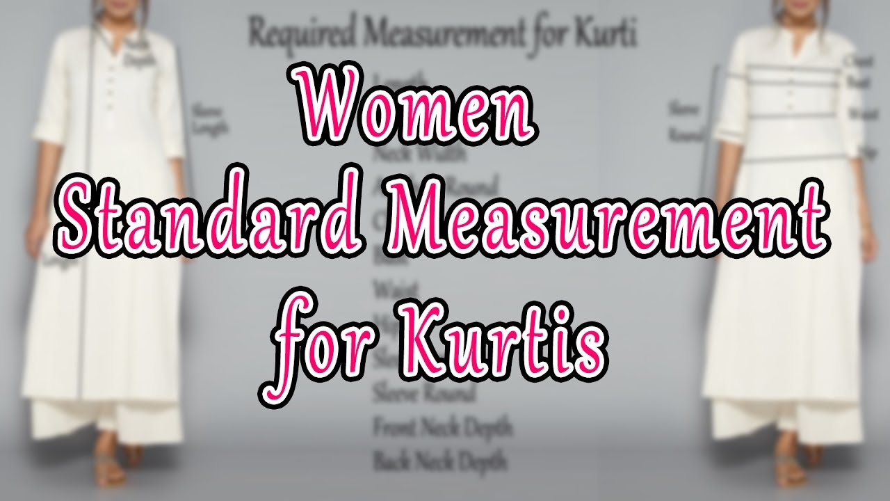 Women Standard Measurement Chart Guide For Beginners Sewingtutorialforbeginners