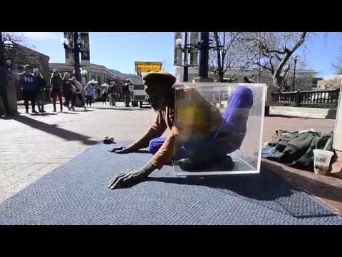 Ibashi-I The Pearl Street Mall Stretch Man in Boulder Colorado
