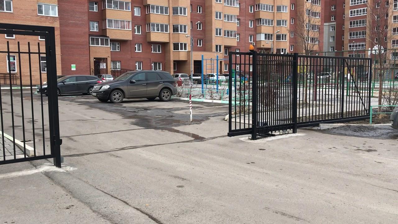 Откатные ворота в Красноярске - YouTube