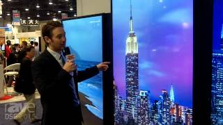 dse 2015 nec display features x841uhd x981uhd commercial 24 7 displays with 4k resolution at 60 h