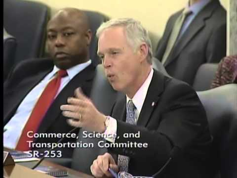 Senator Johnson Speaking at the Commerce, Science, and Transportation Committee