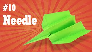 Easy origami - How to make a easy paper airplane glider that FLY FAR #10| The Needle
