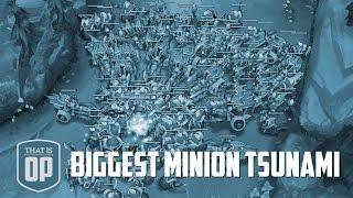 the biggest minion wave ever the minion tsunami league of legends world records