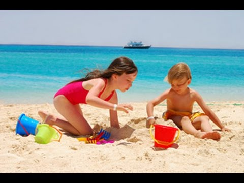 Children Playing Hily On The Beach İçmeler Turkey