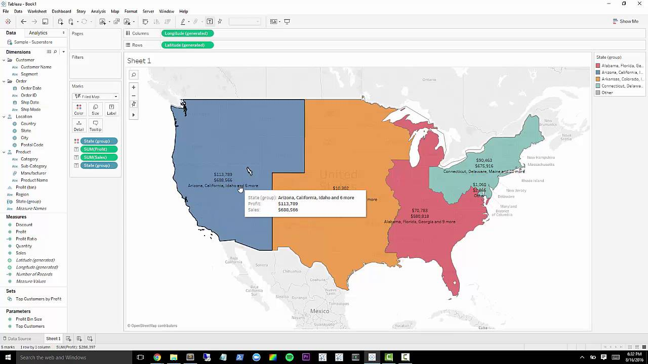 Tableau 10 Tutorial: Custom Territories