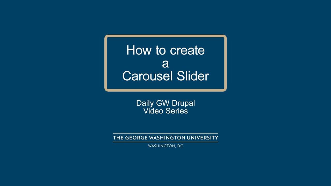 Drupal bootstrap carousel tutorial