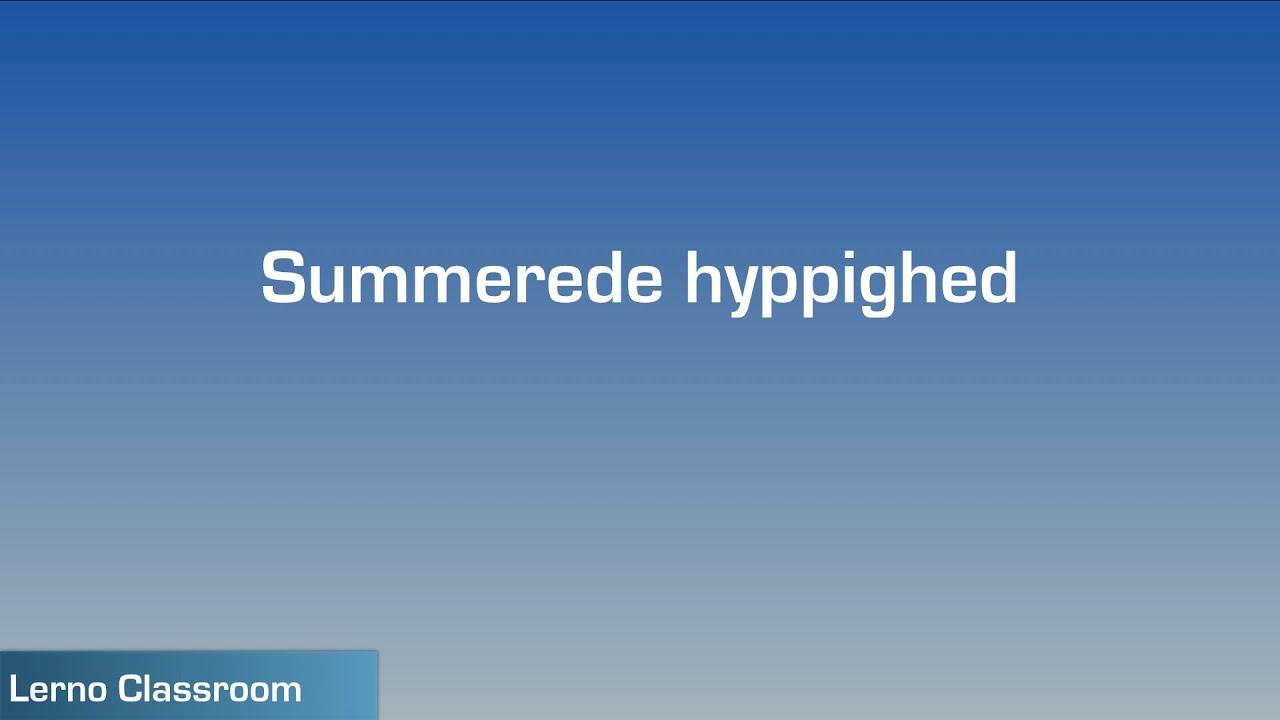 Summerede hyppighed