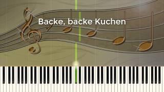 Backe, backe Kuchen - Piano