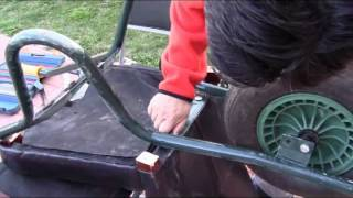 How To Make A Pulled Rickshaw From A Wheelbarrow.  Wheelbarrow Express - A Weekend Project