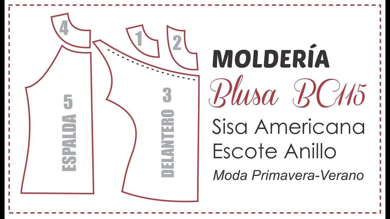 Blusa BC115 Trazado del Patrón de Costura - YouTube