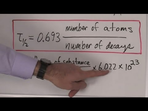 An Easy Equation to Calculate the Half-Life of an Isotope : Chemistry &  Physics