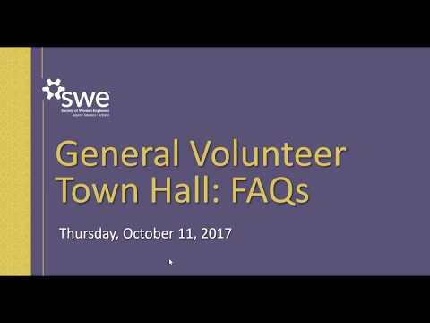 SWE General Volunteer Town Hall
