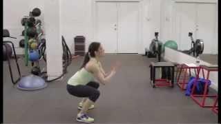 speed squats:potty squat tabata