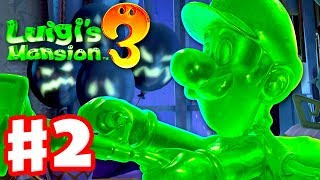 Luigi's Mansion 3 - Gameplay Walkthrough Part 2 - Gooigi! Chambrea Maid Boss Fight (Nintendo Switch)
