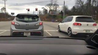 Mazda speed3 vs VW GlI APRstage2