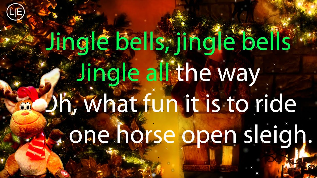 Jingle Bells Karaoke (Christmas Instrumental Voice Song) Lyrics HD ...