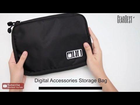 Digital Accessories Storage Pouch Case Bag  -  Gearbest.com