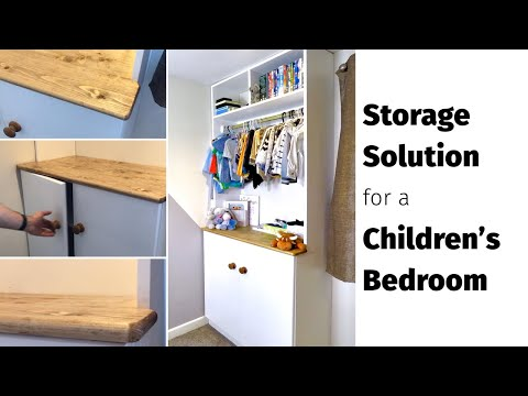 DIY Children's Bedroom Storage Ideas - Modern Built-in Storage Unit