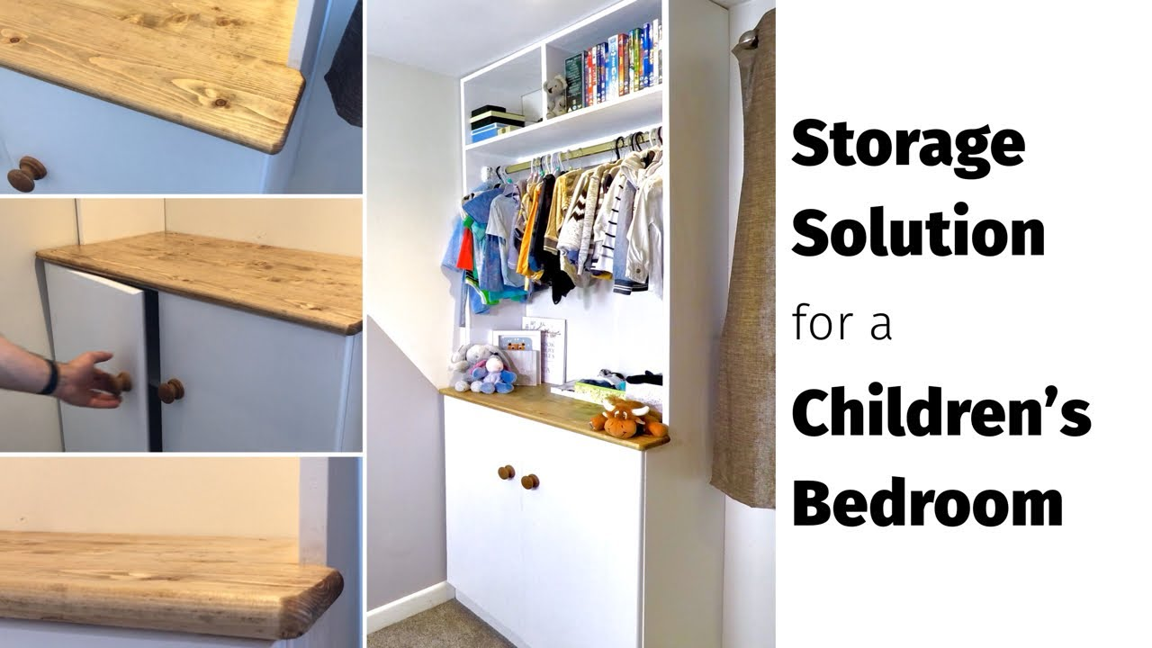 DIY Children\'s Bedroom Storage Ideas - Modern Built-in Storage Unit