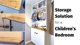 DIY Children's Bedroom Storage - Modern Built-in Unit