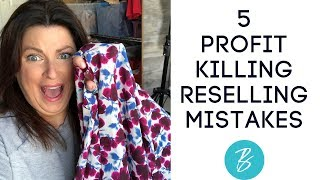 5 Reselling Mistakes | Simple Profit Increasing Tips for Poshmark & Ebay