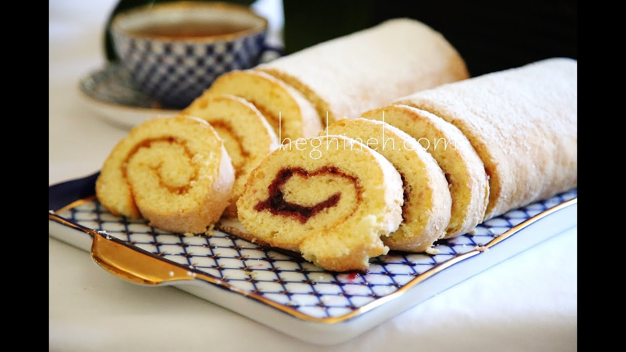 Swiss roll with jam roulette recipe heghineh cooking swiss roll with jam roulette recipe heghineh cooking show youtube forumfinder Choice Image