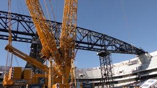 Charpente de l'Arena : 6 000 tonnes d'acier