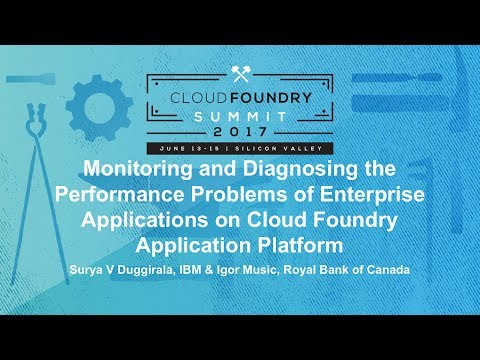 Monitoring and Diagnosing the Performance Problems of Enterprise Applications