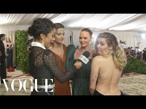 Miley Cyrus, Paris Jackson & Stella McCartney on Sustainable Fashion | Met Gala 2018 With Liza Koshy