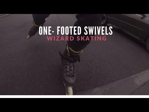 One-Footed Swivel Wizard Skating // Inline Skating Vlog