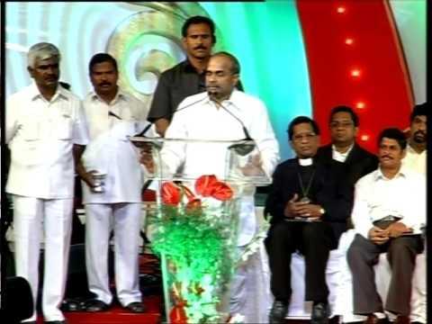 "YSR Speach about Bro. Anil Kumar - ""Jesus My Hero"" Audio Launch"