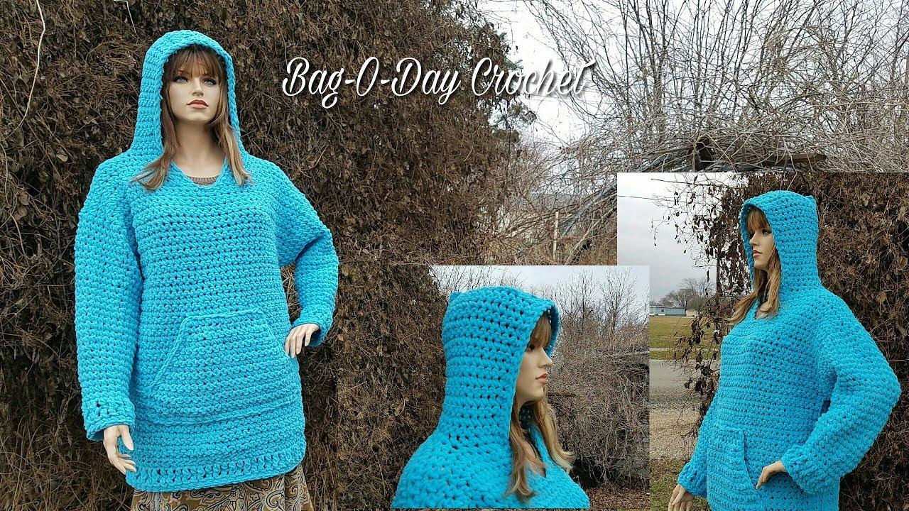 How To Crochet Crochet Hoodie Plus Sized Oversized Hooded