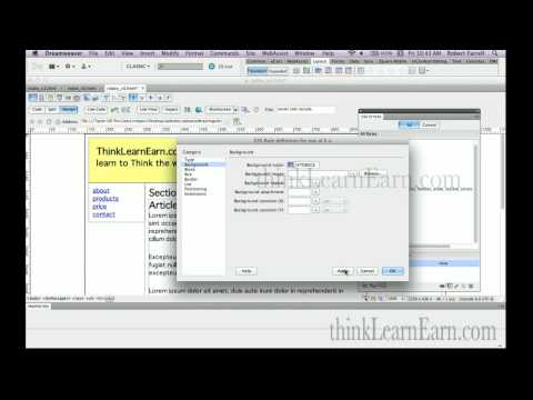 Dreamweaver tutorials online course lessons Build SSI server side include HML5 CSS3 pages