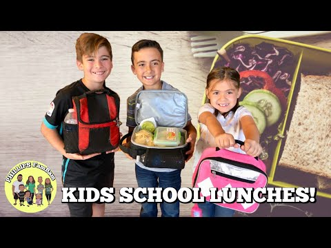 KIDS SCHOOL LUNCH IDEAS | KIDS PACK AND MAKE THEIR OWN LUNCHES | PHILLIPS FamBam Vlogs