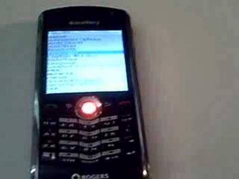 Blackberry 8100 Color Trackball (Free App): How to