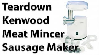 Teardown Kenwood Mincer Sausage Maker MG450