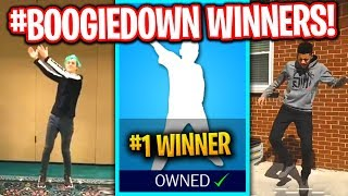 REACTING TO FINAL #BoogieDown CONTEST WINNERS! (NINJA, MYTH, ROY PURDY & MORE!)