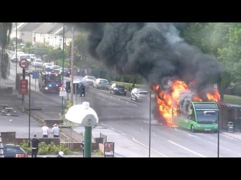 Bus Caught Fire In Clifton Nottingham Uk
