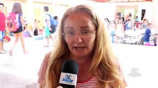 A diretora Paula Oliveira da Escola Cazuza Bezerra em Alto Santo se diz muito feliz pelo apoio da ge