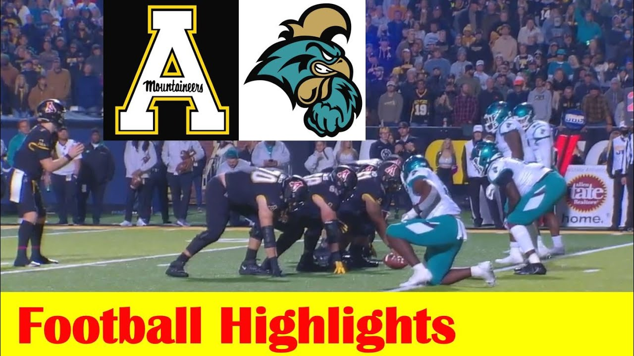 Appalachian State knocks No. 14 Coastal Carolina from unbeaten ...